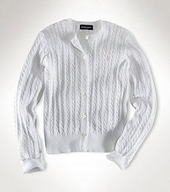 Polo Ralph Lauren® Girls' 2T-6X Long Sleeve Cardigan Sweater