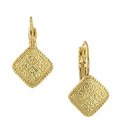 1928® Jewelry Goldtone Leverback Earrings