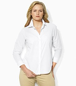 Lauren Ralph Lauren® Plus Size Cotton Poplin Shirt