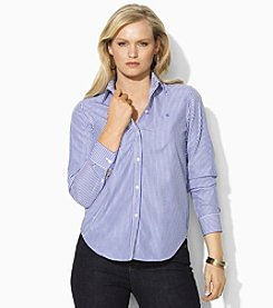 Lauren Ralph Lauren® Plus Size Wrinkle-Free Dress Shirt