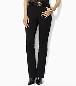 Lauren Ralph Lauren® Petites' Cotton Twill Straight Leg Pants