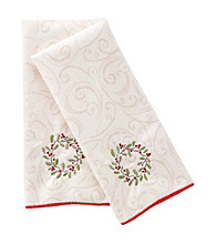 Ritz™ Holiday Wreath 2-pk. Embroidered Kitchen Towel