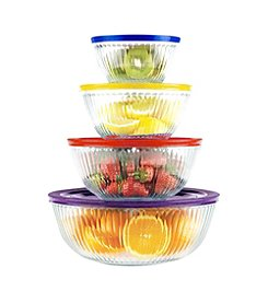 Pyrex® 8-pc. Sculpted Mixing and Storage Bowl Set + $5 Cash Back by Mail see offer details