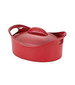 Rachael Ray® Stoneware 2.5-qt. Red Oval Casserole