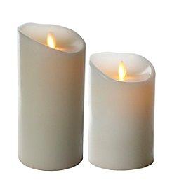 Luminara® Flameless White Candle with Timer