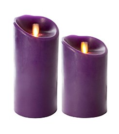 Luminara® Flameless Purple Candle with Timer