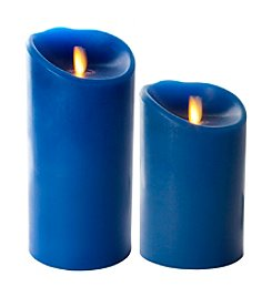 Luminara® Flameless Blue Candle with Timer