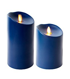 Luminara® Indoor Outdoor Flameless Navy Blue Candle with Timer