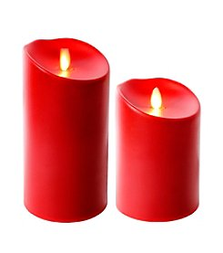 Luminara® Indoor Outdoor Flameless Red Candle with Timer