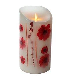 Luminara® Red Flower Embedded Flameless 7