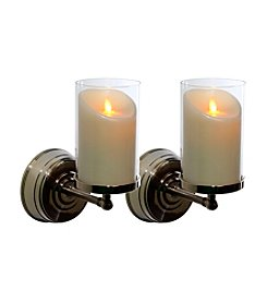 Luminara® Set of Two Nickel Wall Sconces with 5
