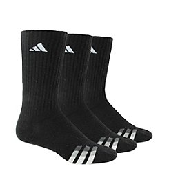 adidas® Men's Black 3-Pack Clima-lite Cushioned Crew Sock