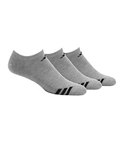 adidas® Men's 3-Pack Gray Climalite Cushioned No Show Socks