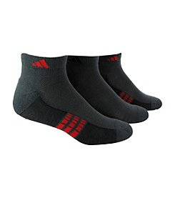 adidas® Men's 3-Pack Gray/Red Climacool Superlite Low-Cut Socks