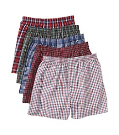 Hanes® Men's Assorted 5-Pack Tartan Woven Boxers