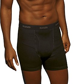 Hanes® Men's Black and Gray 5-Pack Stretch Boxer Briefs