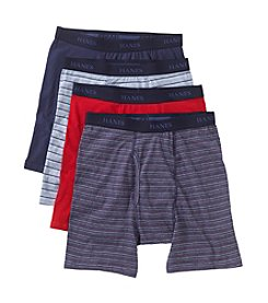 Hanes® Men's Assorted 4-Pack Dyed Boxer Brief