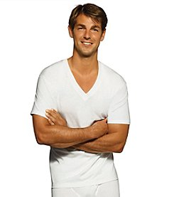 Hanes® Men's White 6-Pack V-Neck T-Shirts