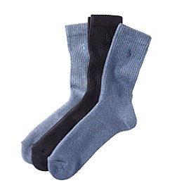 Polo Ralph Lauren® Men's 3-Pack Combed Cotton Rib Crew Socks
