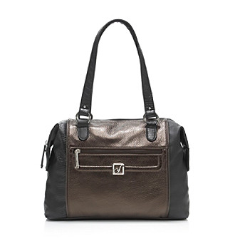 Stone Mountain® Black/Pewter Bridgewater Satchel
