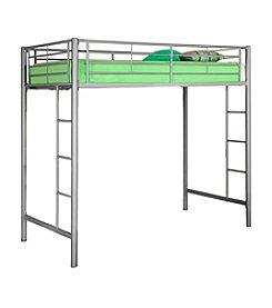 W. Designs Silver Metal Twin Loft Bunk Bed
