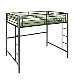 W. Designs Black Metal Full Loft Bunk Bed