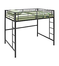 W. Designs Black Metal Full Loft Bunk Bed