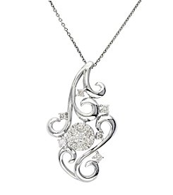 Effy® Bouquet Collection 14K White Gold Diamond Pendant
