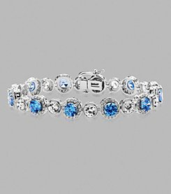 Balentino® Sterling Silver Bracelet Made With Swarovski® Cubic Zirconia Elements