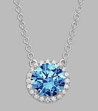 Balentino® Sterling Silver Necklace Made With Swarovski ® Cubic Zirconia Elements