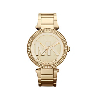 Michael Kors® Goldtone Parker Watch with MK Logo on Dial
