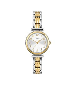 Timex® Women's Two-Tone Dress Bracelet Watch with Silvertone Dial