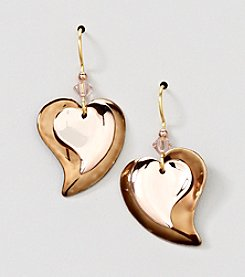 Silver Forest® Bronze and Copper Hearts Earrings