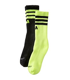 adidas® Boys' Yellow 2-pk. Team Crew Socks