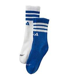 adidas® Boys' Blue 2-pk. Team Crew Socks