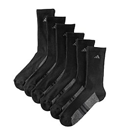 adidas® Boys' Black 6-pk. Crew Socks