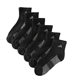 adidas® Boys' Black 6-pk. Quarter Socks