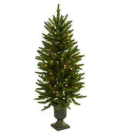 Nearly Natural® 4' Christmas Tree with Urn and Clear Lights