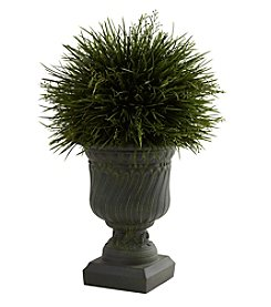 Nearly Natural® Indoor Outdoor Potted Grass with Decorative Urn