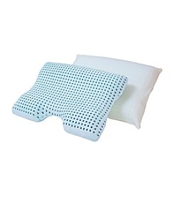 Authentic Comfort® Blue Caress™ Memory Foam Contour Pillow