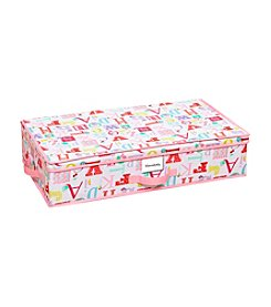 Laura Ashley PVC Coated Owl Alphabet Under-The-Bed Storage Box