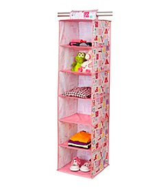Laura Ashley PVC Coated Owl Alphabet 6-Shelf Closet Organizer
