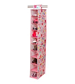 Laura Ashley PVC Coated Owl Alphabet 10-Shelf Closet Organizer