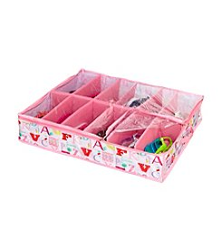 Laura Ashley PVC Coated Owl Alphabet Under-The-Bed Shoe Storage Organizer
