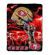 San Francisco 49ers Raschel Throw