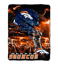 Denver Broncos Raschel Throw