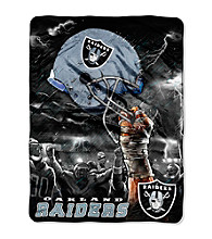 Oakland Raiders Raschel Throw