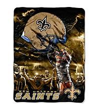 New Orleans Saints Raschel Throw