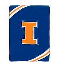 University of Illinois Raschel Throw