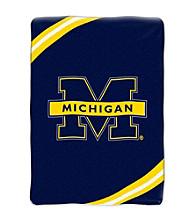 University of Michigan Raschel Throw